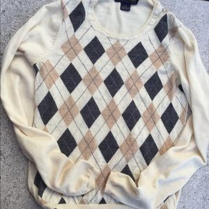 Moreno wool argyle pattern pull over Sweater